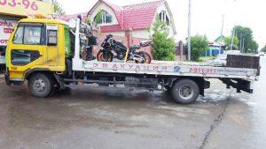 Перевозка мотоцикла на эвакуаторе