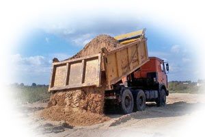 Доставка песка щебня в Новосибирске