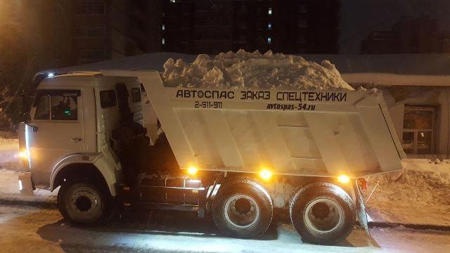 Уборка и вывоз снега в Новосибирске круглосуточно